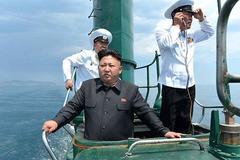 Kim Jong Un cùng em gái thị sát tiền đồn ngoài biển