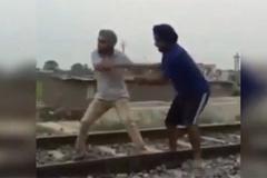 Lừa tự tử đứng giữa đường ray khi tàu lao đến