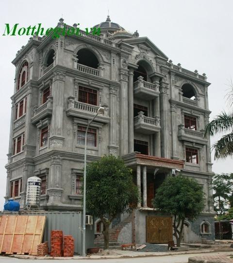 Lâu đài có thiết kế đẹp tại Tây Hồ Hà Nội.
