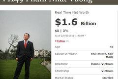 Đẳng cấp đại gia Việt trên bản đồ siêu giàu quốc tế