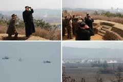 Kim Jong Un thị sát tập trận phòng không