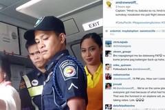 Nữ diễn viên đánh người trên máy bay