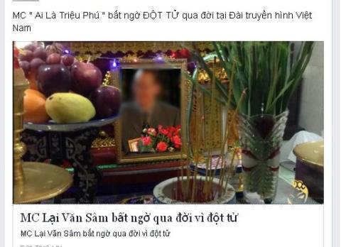 MC Lại Văn Sâm và trò đùa tàn ác của mạng xã hội