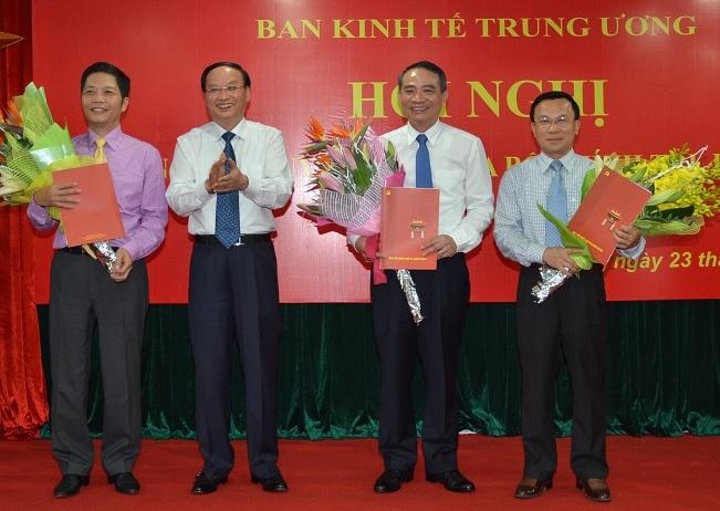 Bộ Chính trị bổ nhiệm 3 Phó Ban Kinh tế TƯ