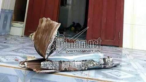 Hiện trường vụ máy bay rơi trên đảo Phú Quý