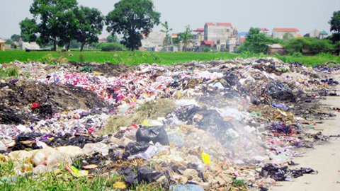 Nông thôn, bãi rác, nước ngầm, ô nhiễm