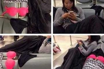 Du khách Trung Quốc phơi đồ lót ở sân bay, dân Thái phẫn nộ