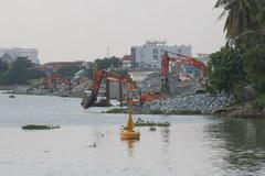 Tạm ngừng thi công lấn sông Đồng Nai