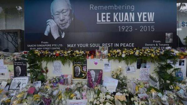 Người Singapore tiễn biệt ông Lý Quang Diệu