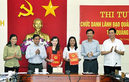 Quảng Ninh, Phạm Minh Chính, thi tuyển lãnh đạo