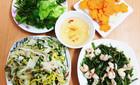 Bữa cơm ít thịt nhiều rau vẫn hấp dẫn