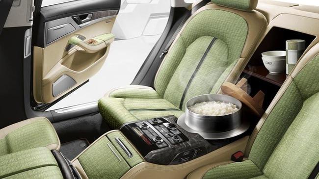 Audi đặc biệt cho Việt Nam: Có thể... nấu cơm ở ghế sau