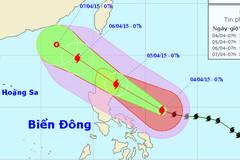 Ngày mai, bão MAYSAK mạnh cấp 8 tiến vào biển Đông