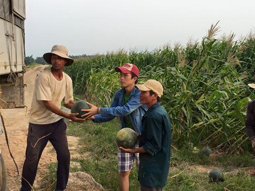 dưa hấu, tình nguyện viên, giúp đỡ, Quảng Nam