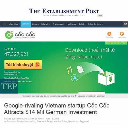 Rạng ngời trình duyệt web Việt trên báo Singapore