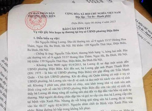 Hà Nội: Người phụ nữ chết sau khi tới UBND phường