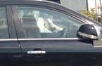Nữ tài xế cố thủ trên xe sau khi gây tai nạn