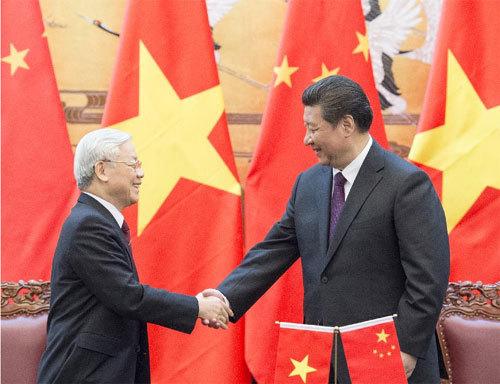 Tổng bí thư, Nguyễn Phú Trọng, TQ, Biển Đông, Tập Cận Bình