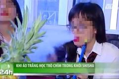 Không kỉ luật nhóm học sinh hút shisha trên VTC14