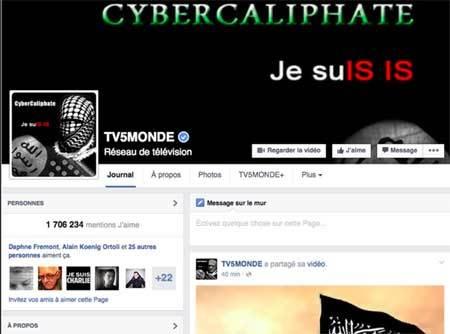 Tin tặc IS làm tê liệt mạng truyền hình nổi tiếng ở Pháp
