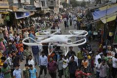 Vũ khí mới dẹp biểu tình từ không trung của Ấn Độ