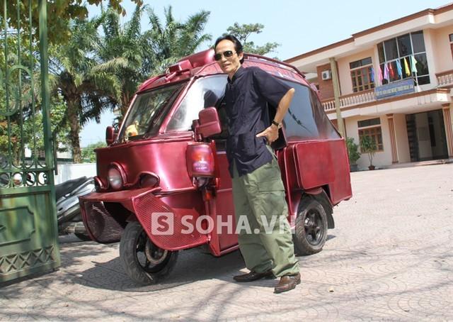 Siêu xe 'thiết giáp' tự chế của nghệ sỹ cải lương xứ Nghệ
