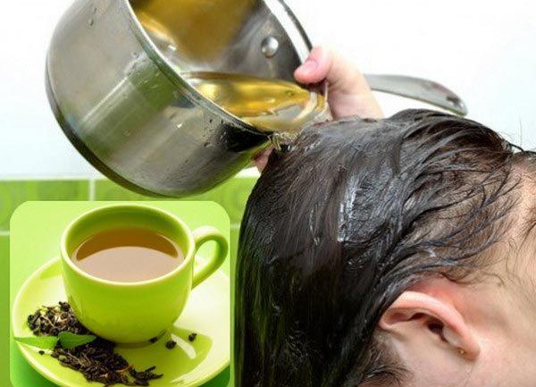 Kết quả hình ảnh cho làm đẹp tóc với trà xanh
