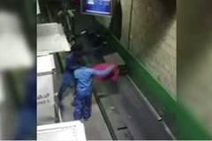 Xót ruột cảnh nhân viên sân bay quăng quật hành lý của khách