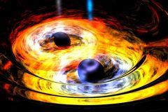 """Hé lộ điều xảy ra khi 2 lỗ đen """"khủng"""" lao vào nhau"""