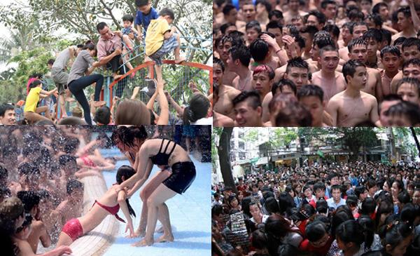 bikini, công viên nước, hỗn loạn, văn hóa, khu giải trí, Hà Nội, Thủ đô