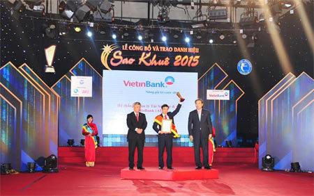VietinBank 'thắng lớn' ở Sao Khuê 2015