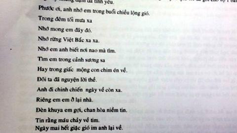 Vị tướng làm thơ 'ghi công' vợ