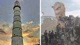 Tháp cổ thành gạch vụn sau động đất ở Nepal