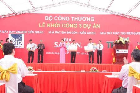 Nhà máy Bia Sài Gòn-Kiên Giang sản xuất mẻ bia đầu tiên