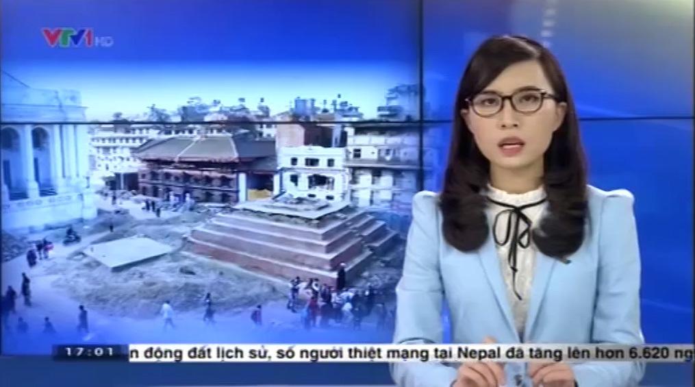 BTV Thời sự VTV gọi thiệt hại động đất Nepal là 'con số ấn tượng'