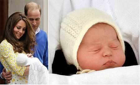 Con gái của hoàng tử William và Kate đã được đặt tên