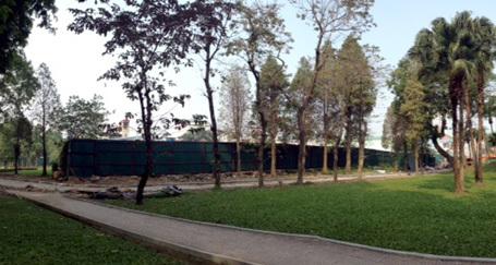 công viên, cây xanh, bãi đỗ xe, Hà Nội...