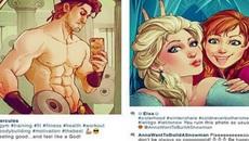 Khi các nhân vật hoạt hình Disney nổi tiếng khoe ảnh 'selfie' trên Instagram