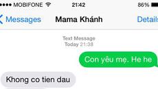 Mẹ bạn phản ứng thế nào khi nhận được tin nhắn 'tỏ tình': Con yêu mẹ?