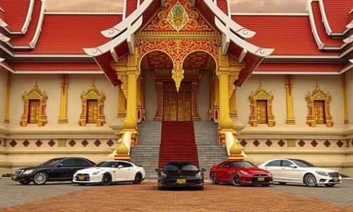 Dàn siêu xe của đại gia Lào khiến dân chơi Việt lác mắt