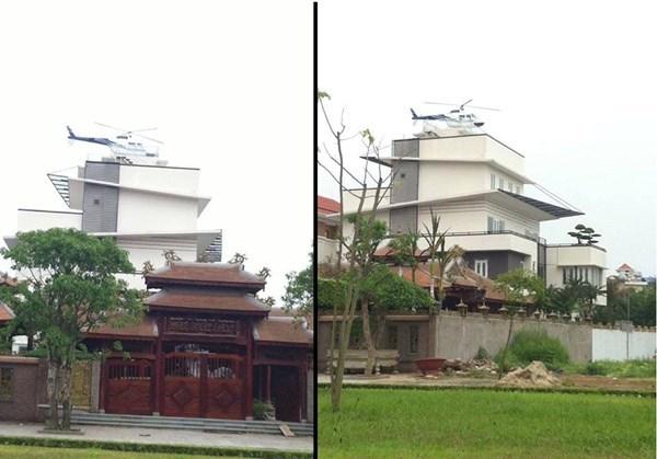 Tòa biệt thự với trực thăng đậu trên nóc