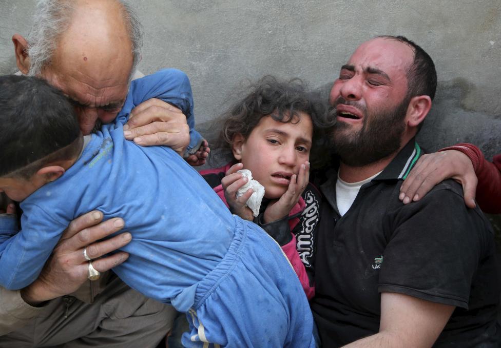 Ám ảnh gương mặt trẻ em trong chiến tranh tại Syria - 17