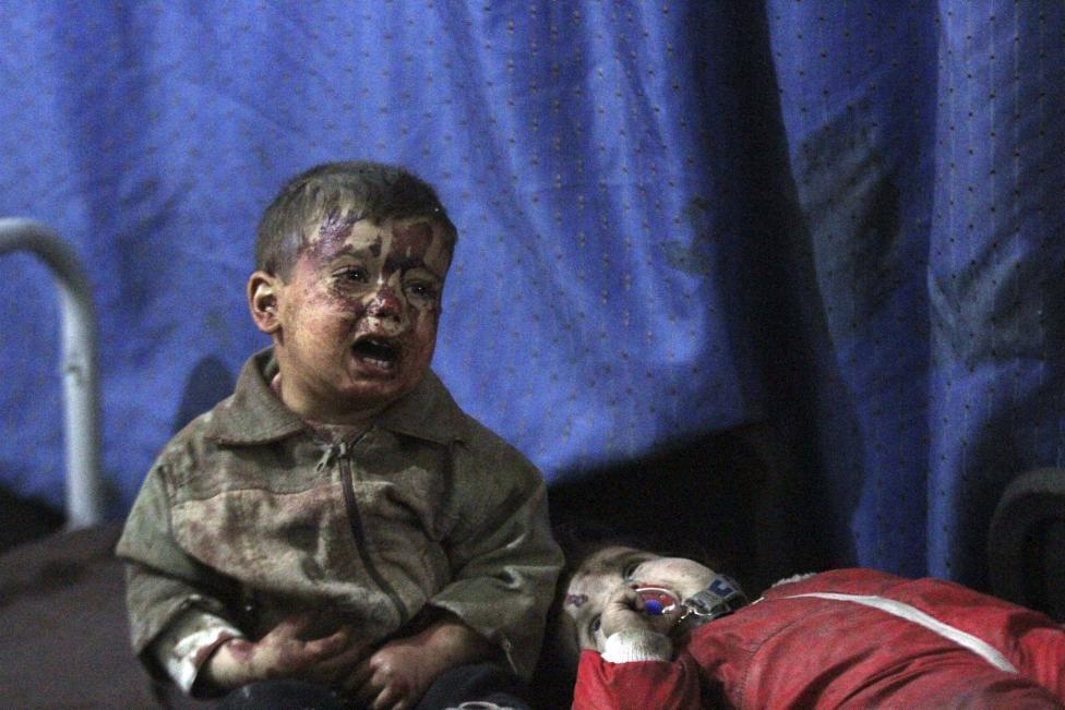 Ám ảnh gương mặt trẻ em trong chiến tranh tại Syria - 13