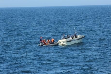 CLIP: Tàu Cảnh sát biển Việt-Nhật luyện tập chung