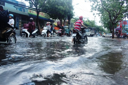 Người dân Sài Gòn rùng mình lội nước thối sau mưa - 4