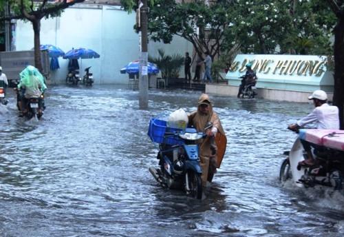 Người dân Sài Gòn rùng mình lội nước thối sau mưa - 9