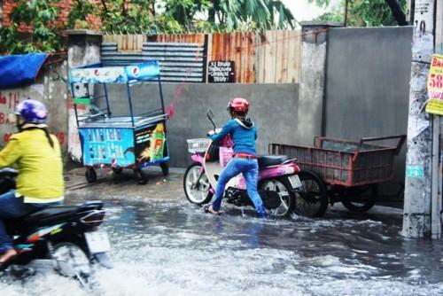 Người dân Sài Gòn rùng mình lội nước thối sau mưa - 10