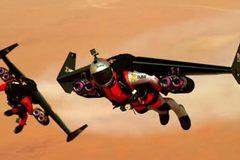 Cánh phản lực giúp người bay lượn như đại bàng