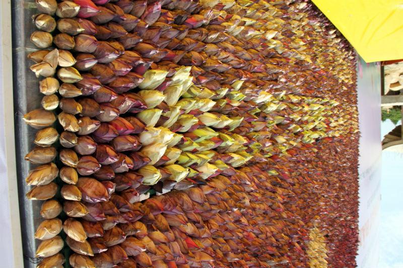 Bức chân dung Bác Hồ làm từ 10.000 bông sen