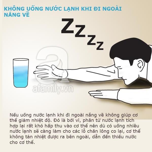 Những điều cấm kị khi uống nước lạnh mùa hè